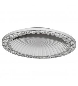 "EM-DOME39MI - 39 3/8""OD x 31 1/8""ID x 4 1/8""D Milton Recessed Mount Ceiling Dome (33 1/2""Diameter x 4""D Rough Opening)"