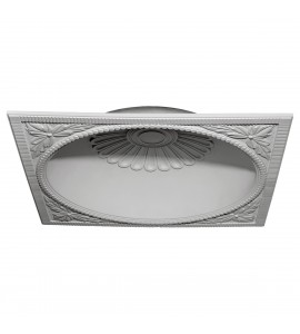 "EM-DOME47SA - 47 1/8""OD x 39 1/4""ID x 9 3/8""D Salem Recessed Mount Ceiling Dome (44 1/8""Diameter x 9 1/8""D Rough Opening)"