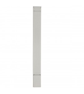 "EM-PIL05X96X02 - 5""W x 96""H x 2""D with 13 1/4"" Attached Plinth, Fluted Pilaster (each)"