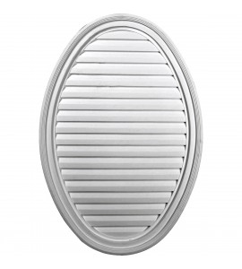 "EM-GVOV25X37D - 24 1/2""W x 37""H x 2 1/4""P, Vertical Oval Gable Vent Louver, Decorative"