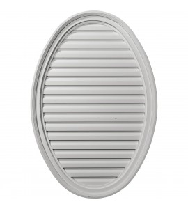 "EM-GVOV25X37F - 25""W x 37""H x 2 1/8""P, Vertical Oval Gable Vent Louver, Functional"