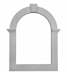 "EM-GVCAT32X22 - 22""IW x 32""IH x 3""P,  Gable Vent Louver Trim, Art Deco Style use with GVCA22X32"