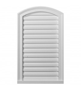 "EM-GVEY18X30D - 18""W x 30""H x 1 1/2""P, Eyebrow Gable Vent Louver, Decorative"