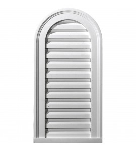 "EM-GVCA16X36F - 16""W x 36""H x 2 1/8""P, Cathedral Gable Vent Louver, Functional"