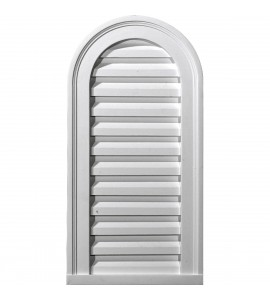 "EM-GVCA18X30F - 18""W x 30""H x 2 1/4""P, Cathedral Gable Vent Louver, Functional"