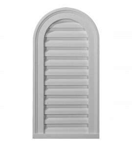 "EM-GVCA22X32F - 22""W x 32""H x 2 3/8""P, Cathedral Gable Vent Louver, Functional"