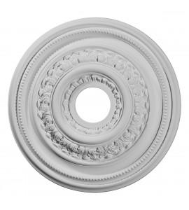 """EM-CM17OL - 17 5/8""""OD X 3 5/8""""ID X 1 7/8""""P Orleans Ceiling Medallion (Fits Canopies up to 4 5/8"""")"""