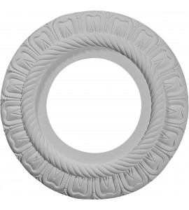 "EM-CM09CL - 9""OD x 4 1/2""ID x 1/2""P Claremont Ceiling Medallion (Fits Canopies up to 5 5/8"")"