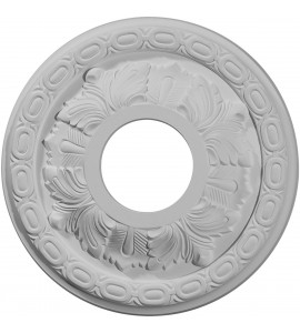 "EM-CM11LF - 11 3/8""OD x 3 5/8""ID x 1 1/8""P Leaf Ceiling Medallion (Fits Canopies up to 4 3/4"")"