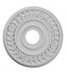 """EM-CM16WR - 16 1/4""""OD x 3 5/8""""ID x 1""""P Wreath Ceiling Medallion (Fits Canopies up to 5 1/2"""")"""