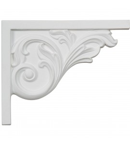 "EM-SB08X05BR-R - 8 3/4""W x 7 5/8""H x 5/8""D Bremen Acanthus Stair Bracket, Right"