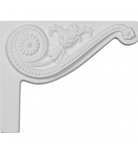 "EM-SB08X06PE-R - 8""W x 6 1/2""H x 3/4""D Pearl Stair Bracket, Right"