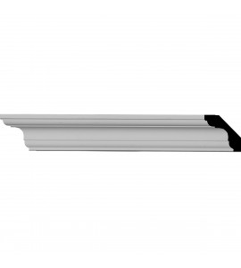 "EM-MLD01X01X02ED - 1 3/4""H x 1 3/4""P x 2 1/2""F x 94 1/2""L Edinburgh Traditional Smooth Crown Moulding"
