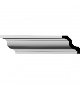 """EM-MLD01X01X02JA - 1 5/8""""H x 1 5/8""""P x 2 1/4""""F x 96""""L Jackson Traditional Smooth Crown Moulding"""