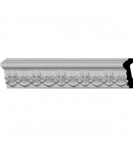"EM-MLD01X00BL - 1 7/8""H x 3/4""P x 96""L Blackthorne Acanthus Leaf Chair Rail Moulding"