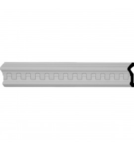 "EM-MLD03X01MU - 3 1/2""H x 1""P x 96""L Munich Dentil Chair Rail Moulding"