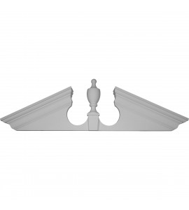 "EM-PED61X20X00UP - 61""W x 20""H x 7/8""P Peaked Urn Pediment"