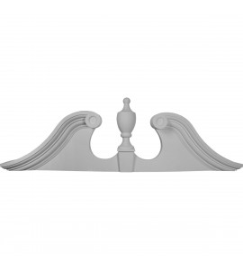 "EM-PED62X20X00US - 62 3/8""W x 20""H x 5/8""P Scroll Urn Pediment"