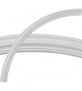 """EM-CR64TR - 64 1/2""""OD x 58""""ID x 3 1/4""""W x 1""""P Traditional Ceiling Ring (1/4 of complete circle)"""
