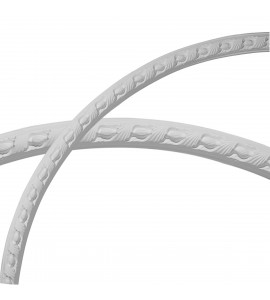 """EM-CR55MI - 54 1/4""""OD x 50 1/4""""ID x 2""""W x 3/4""""P Milton Running Leaf Ceiling Ring (1/4 of complete circle)"""