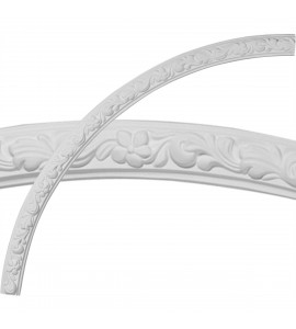 """EM-CR49SU - 49 1/4""""OD x 45 1/4""""ID x 2""""W x 7/8""""P Sussex Floral Ceiling Ring (1/4 of complete circle)"""