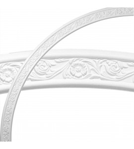 """EM-CR73ME - 74 3/4""""OD x 68 1/2""""ID x 3 1/8""""W x 1/2""""P Medway Floral Ceiling Ring (1/4 of complete circle)"""