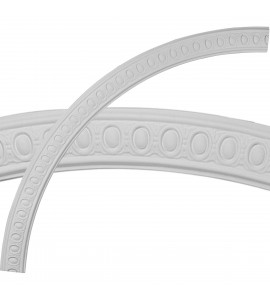 """EM-CR64CA - 64 3/4""""OD x 58 1/4""""ID x 3 1/4""""W x 3/4""""P Caputo Egg & Dart Ceiling Ring (1/4 of complete circle)"""