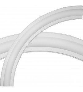 """EM-CR96TR - 93 1/2""""OD x 77 3/4""""ID x 7 7/8""""W x 2 3/4""""P Traditional Ceiling Ring (1/4 of complete circle)"""