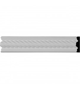 "EM-CAS02X00AL - 2""H x 1/2""P x 96""L, (1/2"" Repeat), Alexandria Rope Window & Door Casing"