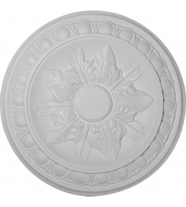 """EM-CM17EX - 17 3/4""""OD x 1 1/8""""P Exeter Ceiling Medallion (Fits Canopies up to 3 1/8"""")"""