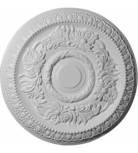 """EM-CM17CA - 17 5/8""""OD x 1 1/8""""P Cambridge Ceiling Medallion (Fits Canopies up to 4 3/4"""")"""