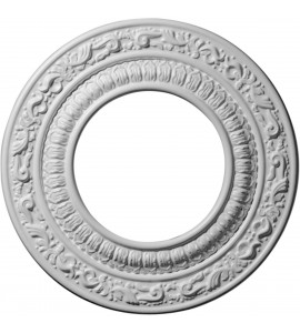 "EM-CM08AD - 8 1/8""OD x 4 1/8""ID x 1/2""P Andrea Ceiling Medallion (Fits Canopies up to 4 1/8"")"