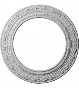 "EM-CM12AD - 12""OD x 8""ID x 1/2""P Andrea Ceiling Medallion (Fits Canopies up to 8"")"