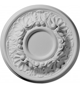 "EM-CM07OD - 7 1/2""OD x 1 1/8""P Odessa Ceiling Medallion (Fits Canopies up to 2 1/2"")"
