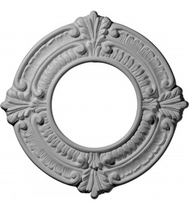 "EM-CM09BN - 9""OD x 4 1/8""ID x 5/8""P Benson Ceiling Medallion (Fits Canopies up to 4 1/8"")"
