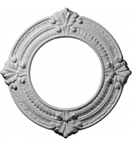 "EM-CM11BN - 11 1/8""OD x 6 1/8""ID x 5/8""P Benson Ceiling Medallion (Fits Canopies up to 6 1/8"")"