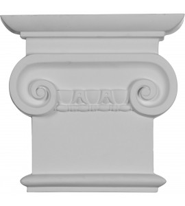 "EM-CAP08X07X02CL - 8 1/4""W x 7 7/8""H Classic Ionic Capital (Fits Pilasters up to 5 3/4""W x 5/8""D)"