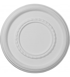 """EM-CM17FE - 17 3/8""""OD x 1 1/8""""P Federal Roped Large Ceiling Medallion (Fits Canopies up to 7 3/4"""")"""