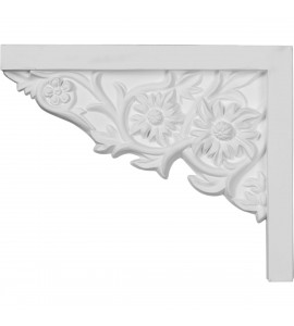"EM-SB09X07FL-L - 9""W  x 7 1/4""H x  5/8""P Floral Small Stair Bracket, Left"