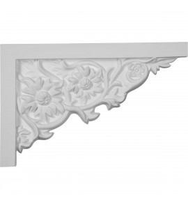 "EM-SB11X07FL-R - 11 3/4""W  x 7 7/8""H x  3/4""P Floral Large Stair Bracket, Right"