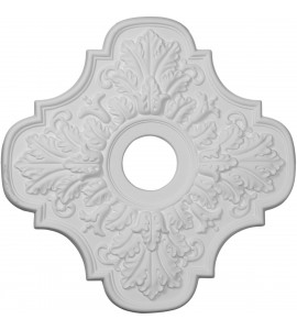 """EM-CM17PE - 17 3/4""""OD x 3 1/8""""ID x 1""""P Peralta Ceiling Medallion (Fits Canopies up to 4 5/8"""")"""