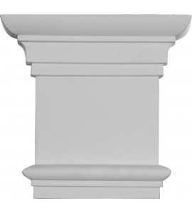 "EM-CAP08X07X02TR - 8 1/4""W x 7 7/8""H Traditional Capital (Fits Pilasters up to 5 3/8""W x 3/4""D)"