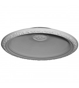 "EM-DOME59FL - 59""OD x 47""ID x 11""D Floral Recessed Mount Ceiling Dome (53"" Diameter x 12""D Rough Opening)"