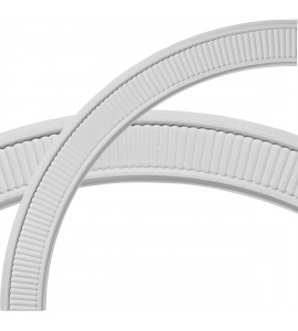 "EM-CR39NE - 39 1/2""OD x 33 1/4""ID x 3 1/8""W x 5/8""P Nevio Ceiling Ring (1/4 of complete circle)"