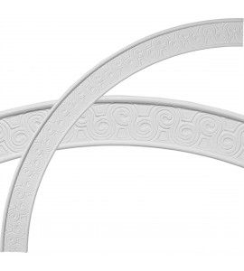 "EM-CR44BE - 44 1/2""OD x 39 1/4""ID x 2 3/4""W x 5/8""P Bedford Ceiling Ring (1/4 of complete circle)"