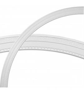 """EM-CR59TE - 59 1/2""""OD x 53""""ID x 2 3/4""""W x 1/2""""P Tralee Ceiling Ring (1/4 of complete circle)"""