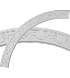 """EM-CR67FE - 63""""OD x 54 1/4""""ID x 4 3/8""""W x 3/4""""P Federal Ceiling Ring (1/4 of complete circle)"""