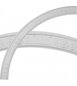 """EM-CR59FL - 55 3/4""""OD x 52 1/4""""ID x 3 1/4""""W x 3/4""""P Flower Ceiling Ring (1/4 of complete circle)"""