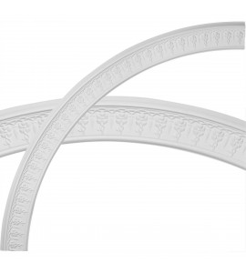 """EM-CR78SP - 79 1/2""""OD x 70 1/4""""ID x 4 5/8""""W x 1 1/8""""P Spiral Ceiling Ring (1/4 of complete circle)"""