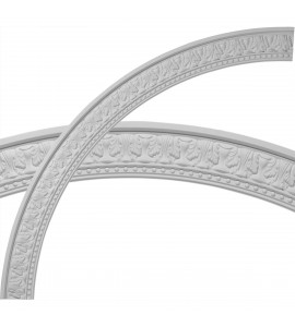 """EM-CR70PM - 71 1/4""""OD x 62 3/4""""ID x 4 1/4""""W x 1 3/8""""P Palmetto Ceiling Ring (1/4 of complete circle)"""
